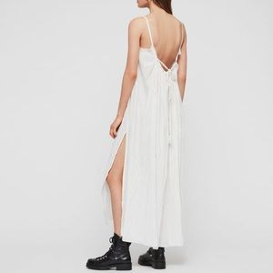 ALL SAINTS ROMEY LONG WHITE DRESS XS/S